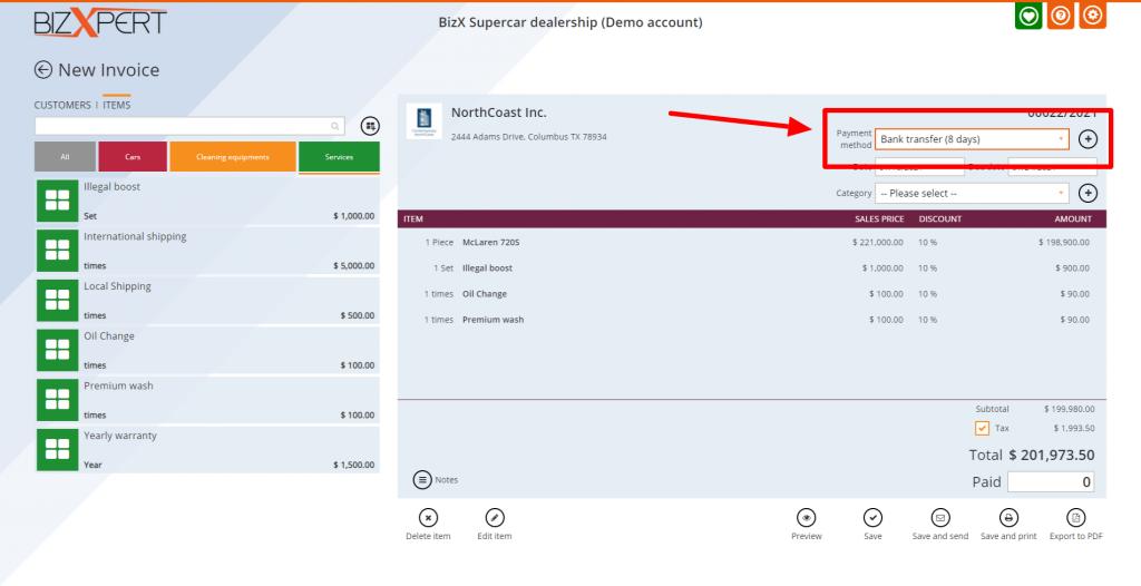 bizxpert free online invoice creator